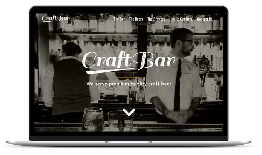 Craft Bar Mockup